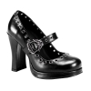 CRYPT-05 Black Faux Leather